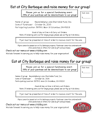 Bbq Fundraiser Flyer Reynoldsburg Lions Club City Bbq Flyer Fundraiser