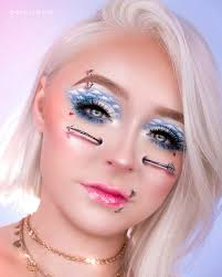 in a seemingly normal look you might find a small hard stenciled into one of her eyebrows