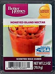honeyed island nectar better homes and gardens wax cubes scented tarts tropical 3 50