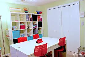 organized ikea homeschool room you