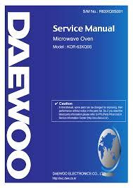 daewoo kor 618q service manual