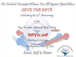 save the date may 21 2018 for the freehold munil alliance tees off against opioid abuse