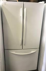 white french door refrigerator. 33\ White French Door Refrigerator