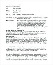 Memo Example Business Sample Decision Memo Documents In Word Strategy Memos Five