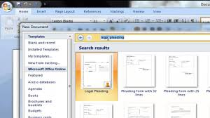 Pleadings Paper How To Obtain Pleading Paper With Microsoft Word Youtube