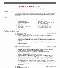 Wimax Engineer Sample Resume Fascinating LTE Optimization Engineer Resume Example FES Further LLC