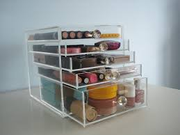 awesome clear makeup storage organizer with drawer labarrigallena mesmerizing acrylic design idea within 5