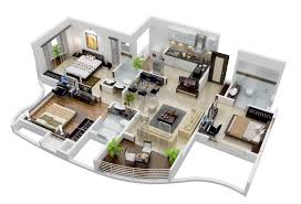 3 bedroom house ground floor plans 3d house home plans ideas picture