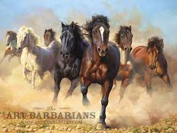 wild horses running wild horses running painting thunder and dust wild horses