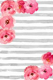cute wallpapers for phones for free. Delighful Phones Free Phone Wallpaper  Background Cute Gray And White Watercolor Stripes  With Pink Floral  DIY Pinterest Wallpaper Backgrounds Iphone  To Cute Wallpapers For Phones U