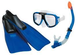 Купить <b>Набор для плавания</b> с ластами <b>Intex</b> Aviator размер 38-40 ...