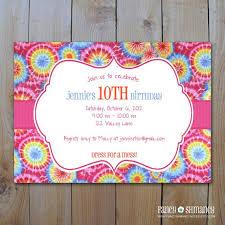 Tie Dye Editable Invitation Template Instant Download