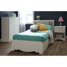 South Shore Bedroom Furniture South Shore Crystal Twin Mates Bed White Walmartcom