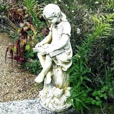 garden angel statues garden statuary garden statues angels girl reading garden sculpture stone finish garden angel garden angel statues