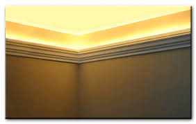 cove molding lighting. Foam Crown Molding Installed With Round Rope Lights. Austin Molding. Www.styrofoamcrownmolding Cove Lighting B
