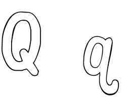 Small Picture Q Coloring Pages Word Q Alphabet Coloring Pages Q For Quarter