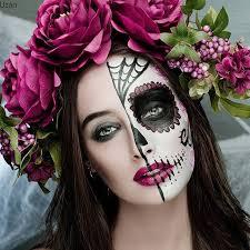 half sugar skull makeup by insramer lilachuzan catrina in 2018 sugar skull makeup and makeup