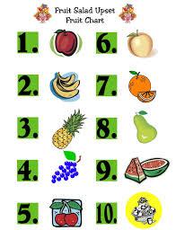 Salad Chart Fruit Salad Chart The Scripture Lady