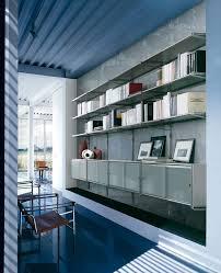 modular wall bookcase glass shelves