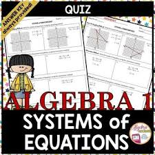 systems of equations quiz systems of