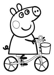 Disegni Per Bambini Piccoli Da Colorare Peppa Pig In Bici