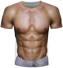 3D Muscle Printing T-<b>Shirt</b>,<b>Men's</b> Elastic <b>Short Sleeve</b>,Funny ...