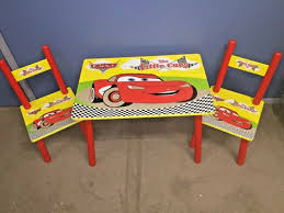 disney kids wood table and 2 chairs set toddler activity table cars 8 design