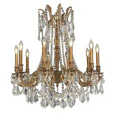 worldwide lighting windsor 28 in 10 light french gold crystal candle chandelier
