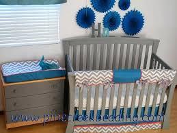 blue and grey crib bedding