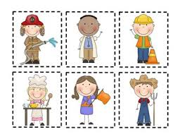 Our Community Helpers Chart Community Helpers Pocket Chart Matching