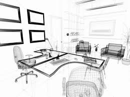 modern interior office stock. Stock Photo: The Modern Interior Of Office 3d Image K