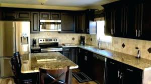 Dark Kitchen Cabinets With Light Granite Custom Light Granite Countertops With Dark Cabinets Focus Dark Cabinets