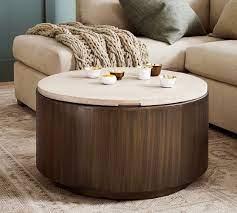 gilman 30 round storage coffee table