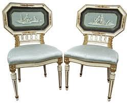 anastasia luxury italian sofa. Pair Of Italian Neoclassical Side Chairs In Pompeiian Form Italy Circa 1900 Anastasia Luxury Sofa V