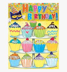 Simple Pete The Cat Happy Birthday Chart Tcr62008 Birthday