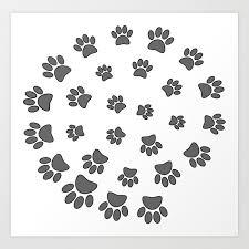 Spiral Dog Paw Print Art Print By Almdrs