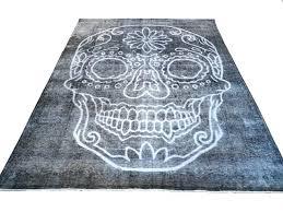 sugar skull rug like this item australia yourlegacy