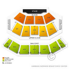Seating Chart For Harrah S Cherokee Event Center Harrahs Cherokee Resort Event Center Tickets