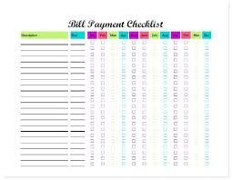 Free Bill Tracking Spreadsheet Luxury Pay Template Printable Monthly