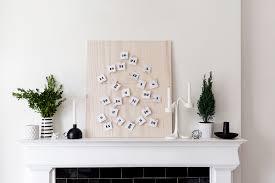 diy scandinavian inspired advent calendar fireplace mantle decor happy grey lucky
