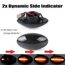 Mini Cooper Marker Lights Dynamic Led Side Marker Lights Amber Color For Mini Cooper