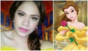 you disney princess beauty the beast belle makeup tutorial
