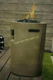 outdoor gas fire column target bid