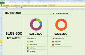 Free Net Worth Spreadsheet Template For Excel 2013