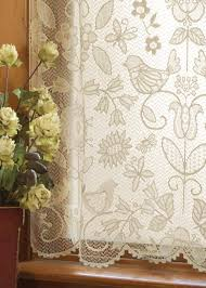 Lace Bedroom Curtains Popular Folk Art Themes From Nature With Whimsical Birds Are
