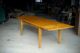 extendable dining table tiger maple wood