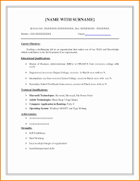 Simple Resume Template For Students Elegant 9 Simple Resume Examples