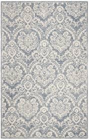 safavieh blossom blm106m blue ivory area rug
