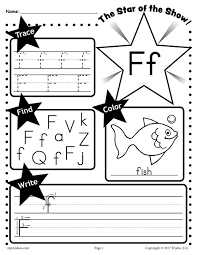 F Star of the show Letter worksheet