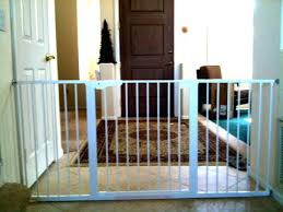Pressure Mounted Baby Gate For Stairs Wide Baby Gates Extra Black ...